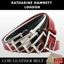 キャサリンハムネット ベルト KH-506028 【 メンズ 本革 牛革 レザー カットサイズ調整可能 】【即日発送】