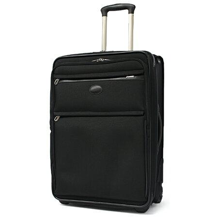 """パスファインダー スーツケース トロリー ブラック メンズ PF3824DAX(PF6824DAX) 【 1年保証 Pathfinder 24""""Trolley with Double Auto EXP/Suiter 】【 ビジネス バッグ キャリーケース 】"""