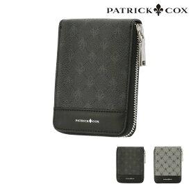 パトリックコックス 二つ折り財布 ミニ財布 ラウンドファスナー プレイドキングス メンズ レディース PXMW9LS4 PATRICK COX | ブランド専用BOX付き 牛革 本革 レザー [bef]
