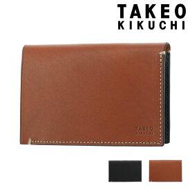 タケオキクチ 名刺入れ スタック メンズ 742612 TAKEO KIKUCHI | 牛革 本革 レザー [PO5]
