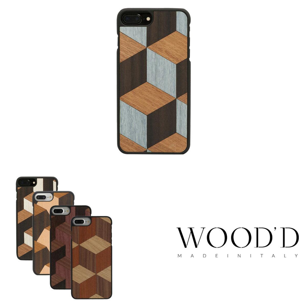Wood'd iPhone8Plus iPhone7Plus iPhone6Plus ケース Real wood Snap-on covers GEOMETRIC ウッド 【 アイフォン スマホケース スマートフォン カバー 木製 ハンドメイド イタリア製 】[bef][PO10][即日発送]