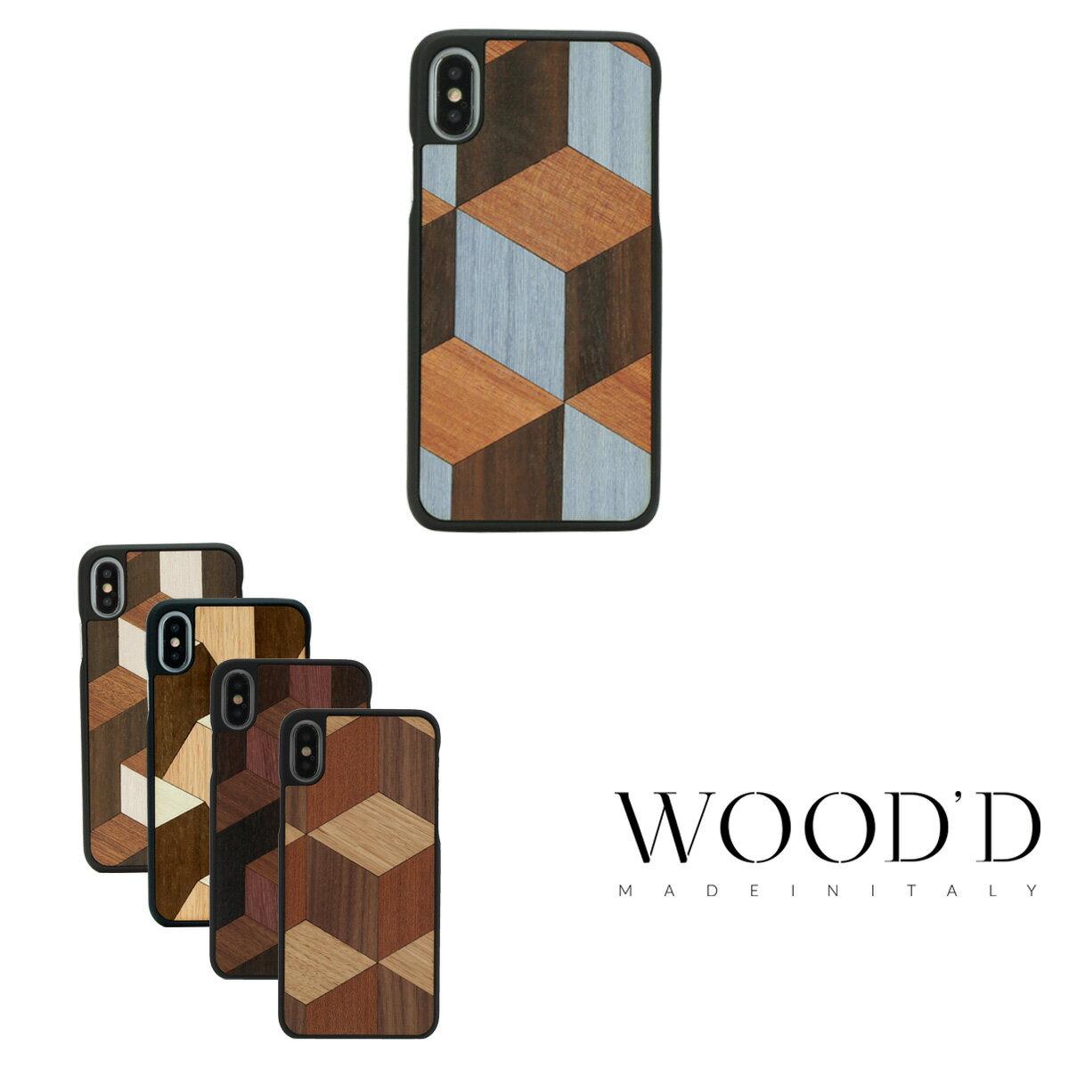 Wood'd iPhoneX ケース Real wood Snap-on covers GEOMETRIC ウッド 【 アイフォン スマホケース スマートフォン カバー 】【PO10】