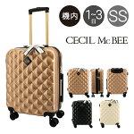 セシルマクビースーツケース35L53cm2.6kgレディースCM12-4-00001CECILMcBEE|ハードファスナー|キャリーケースハードキャリー[PO5][即日発送]