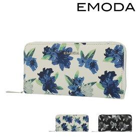 エモダ 長財布 ラウンドファスナー レディース EM-9777 EMODA | 花柄 ブランド専用BOX[PO5]