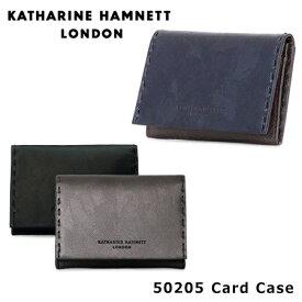キャサリンハムネット KATHARINE HAMNET 名刺入れ 490-50205 BOND カードケース カモフラージュ 迷彩 メタリック 革 レザー メンズ [PO10][bef]