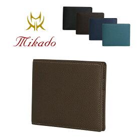 ミカド Mikado 二つ折り財布 727016 ワープロラックス 財布 メンズ レザー [PO5][bef][即日発送][クリスマス]