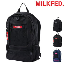 MILKFED. リュック メンズ レディース 03192051 ミルクフェド EMBROIDERY BACK PACK BAR Jr | リュックサック コンパクト A4[PO5][bef][即日発送]
