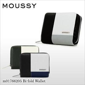 マウジー MOUSSY 二つ折り財布 m01766205 Patchwork Shirink ラウンドファスナー 財布 レディース [PO10][bef]