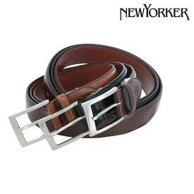 ニューヨーカー ベルト メンズ NY-5080219 日本製 NEWYORKER | ピンタイプ ビジネス カジュアル フォーマル 牛革 本革 レザー ブランド専用BOX付き [PO5]