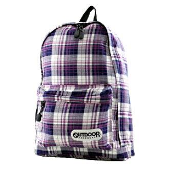 戶外產品帆布背包格子花紋ODX-01 80紫PURPLE