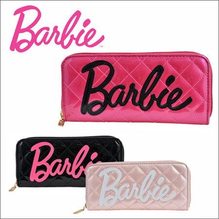 バービー Barbie 長財布 36308 【 当社オリジナル 】【 ビッグロゴ 】【 ラウンドファスナー 財布 レディース 】[PO10][bef]