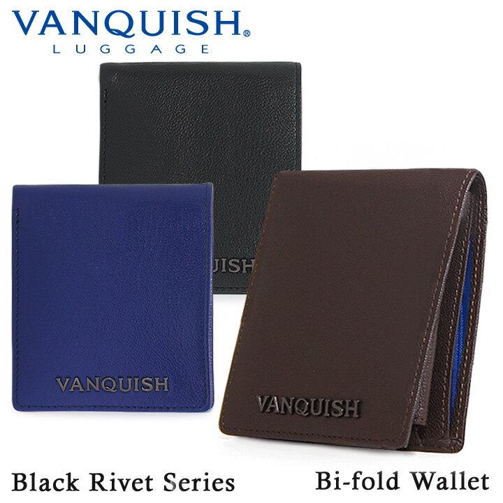 ヴァンキッシュ VANQUISH 財布 VA-W013 【 二つ折り財布 メンズ ブラックリベット 】【PO5】