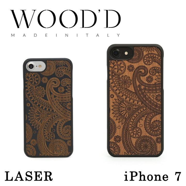 Wood'd iPhone8 iPhone7 iPhone6 ケース レディース メンズ 木製 イタリア製 アイフォン スマホケース スマートフォン カバー ハンドメイド Real wood Snap-on covers LASER ウッド 【PO10】【bef】【即日発送】