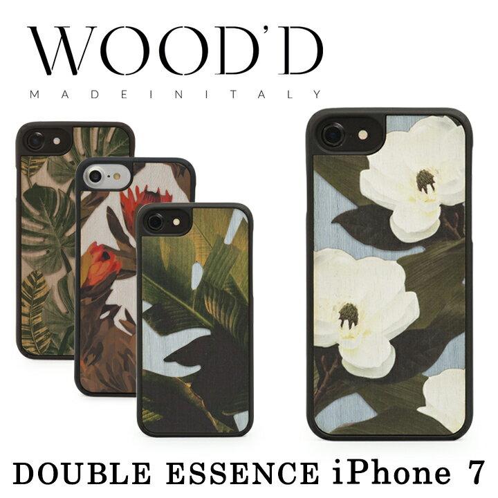 ウッド Wood'd iPhone8 iPhone7 iPhone6 ケース Real wood Snap-on covers DOUBLE ESSENCE 【 アイフォン スマホケース スマートフォン カバー 木製 ハンドメイド イタリア製 】【即日発送】