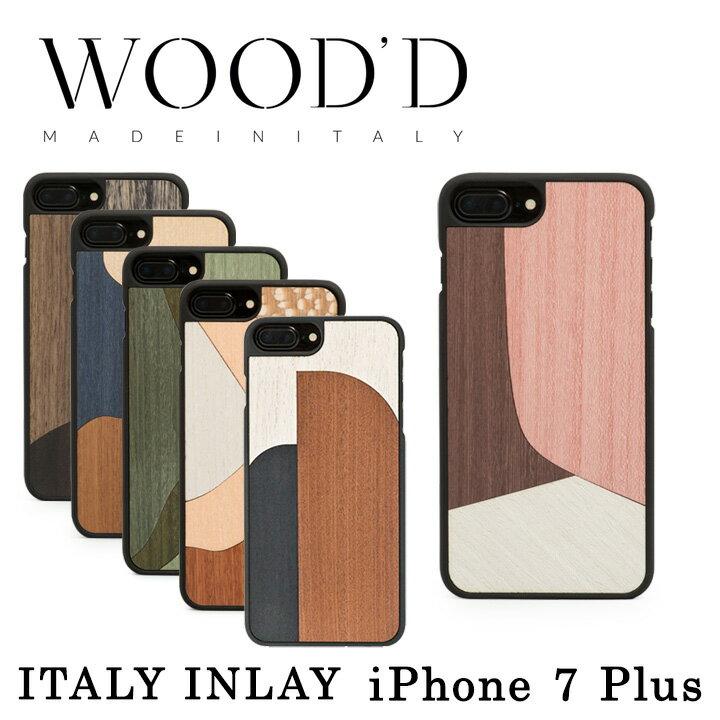 Wood'd iPhone8Plus iPhone7Plus iPhone6Plus ケース レディース メンズ 木製 イタリア製 アイフォン スマホケース スマートフォン カバー ハンドメイド Real wood Snap-on covers ITALY INLAY ウッド 【PO10】【bef】【即日発送】