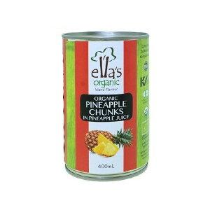 エラズオーガニック オーガニックパインアップルチャンク缶 400g