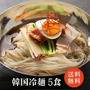 冷麺 5食入り メール便 韓国冷麺 韓国食品 韓国料理 韓国 【李朝園】