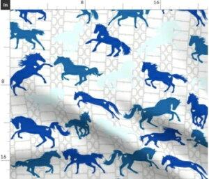 New 馬 馬柄 ホースの可愛すぎるデザイン 馬術 乗馬 騎士 競馬 輸入生地 生地 ハンドメイド 素材