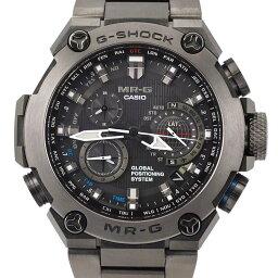 卡西歐CASIO G打擊G-SHOCK MRG-G1000B-1AJR GPS haiburitto/電波太陽能鈦石英MR-G[美品][富裕的時間][中古]