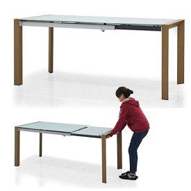 ガラステーブル おしゃれ ダイニングテーブル 伸縮式 長方形 高級感 幅128 幅178 強化ガラス 伸びる机 北欧 シンプル 新生活 パーティー 食卓 モダンテイスト 楽天 送料無料