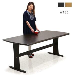 ダイニングテーブル 幅180cm 180x90 T字脚 二本脚 木目調 転写シート 6人掛け用 北欧 長方形 ナチュラル ブラウン シンプル モダン