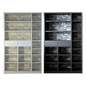 本棚 おしゃれ 幅115 高さ183 ホワイト ダークブラウン 北欧 高級感 壁板 カントリー 書棚 完成品 日本製 レンガ壁 転倒防止 移動棚 楽天 送料無料