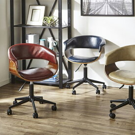 パソコンチェア 事務 椅子 回転椅子 おしゃれ オフィスチェア 選べる3色 ワイン ネイビー ベージュ 高級感 キャスター付き 昇降式 レトロ感 楽天 高さ調整可能 仕事椅子 送料無料