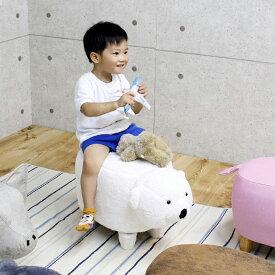 くま ぬいぐるみ 可愛い 乗り物 おもちゃ 子供 熊 幅35 高さ36 スツール 白色 子供部屋 動物 楽天 送料無料