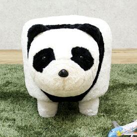 パンダ ぬいぐるみ 可愛い 乗り物 置き物 おもちゃ 子供 幅35 高さ37 スツール ホワイト ブラック 子供部屋 動物 楽天 送料無料