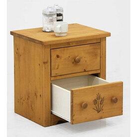 サイドテーブル おしゃれ 木製 ベッドサイドテーブル 引き出し 収納付き スライドレール 寝室 幅45 カントリー家具 天然パイン材 ナイトテーブル 木目調デザイン 楽天 送料無料
