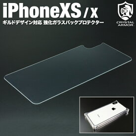 iPhoneXS iPhoneX 強化ガラスバックプロテクター ギルドデザイン専用 背面保護ガラスフィルム True Color Back Protector for GILD design iPhone XS X