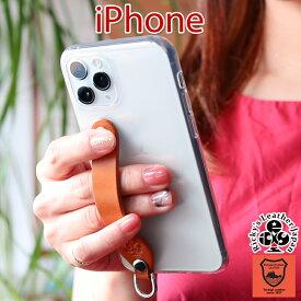 シンプルグリップ ケース iPhone12 Pro ProMax 12Pro MAX 12mini 12 iPhone11 11Pro 11ProMax SE2 SE 第二世代 11 XS XR X 8 7 6s plus iphoneSE2 iphoneXS iPhoneXR iPhone8 TPU ケース ループ付き レザー カバー リング付 ベルト 栃木レザー 革 本革 Ricky's r152