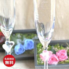 名入れグラスバラBOXと名入れシャンパングラスのセット(赤&赤/ピンク&ピンク/ブルー&白)★グラスデザイン2種<シャンパン 結婚祝い><結婚記念日 プレゼント 妻>