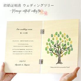 お名前と日付が入る結婚証明書木製ウェディングツリー<ウェディングツリー 木><名入れウェディングツリー>