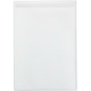 クリアーホルダーチャックタイプ(A4判・マチ付) 乳白 10枚入 [857-10ニユ]