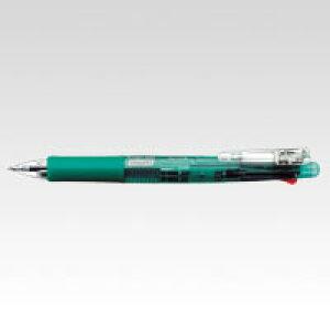 クリップオンマルチ 4色ボールペン+シャープ0.5 緑 (1本) [B4SA1-G] 【7個までネコポス対応可能】