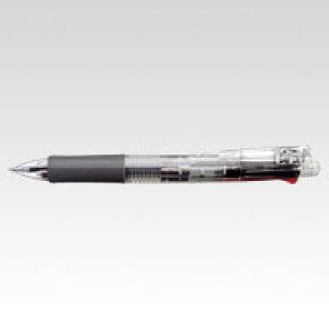 クリップオンマルチ 4色ボールペン+シャープ0.5 透明 (1本) [B4SA1-C] 【7個までネコポス対応可能】