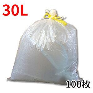 ひも付きゴミ袋「リコロ」半透明 30リットル 10枚入り10冊(100枚)