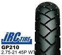【IRC】GP210 2.75-21 45P WT バイクタイヤセンター バイク タイヤー ※明日楽非対応