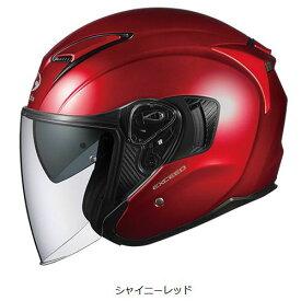 OGKカブト EXCEED ヘルメット【シャイニーレッド】【オージーケーカブト バイク用 ジェットヘルメット エクシード】【smtb-k】