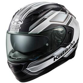 OGKカブト KAMUI-3 ヘルメット ACCEL【フラットブラックホワイト】【オージーケーカブト バイク用 フルフェイスヘルメット カムイ3 アクセル】【smtb-k】