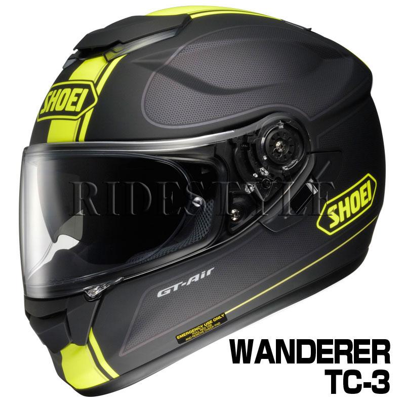 SHOEI GT-Air ヘルメット WANDERER【TC-3 イエロー×ブラック(マットカラー)】【ショウエイ バイク用 フルフェイスヘルメット GTエアー ワンダラー ショーエイ】【smtb-k】