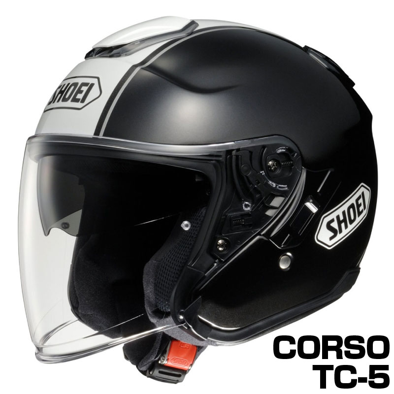 SHOEI J-CRUISE ヘルメット CORSO【TC-5 ブラック×ホワイト】【ショウエイ バイク用 ジェットヘルメット ショーエイ Jクルーズ コルソ】【smtb-k】