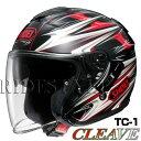 SHOEI J-Cruise ヘルメット CLEAVE【TC-1 レッド×ブラック】【ショウエイ バイク用 ジェットヘルメット ショーエイ Jクルーズ クリーブ...