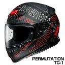 SHOEI Z-7 ヘルメット PERMUTATION 【TC-1 レッド×ブラック (マットカラー)】【ショウエイ Z7 バイク用 フルフェイスヘルメット パ...