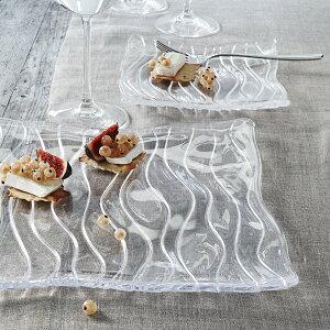 【ナハトマン公式】<オーシャン> スクエア プレート 30cm(1枚入)83727【ラッピング無料】Nachtmann 皿 洋食器 ガラスウェア