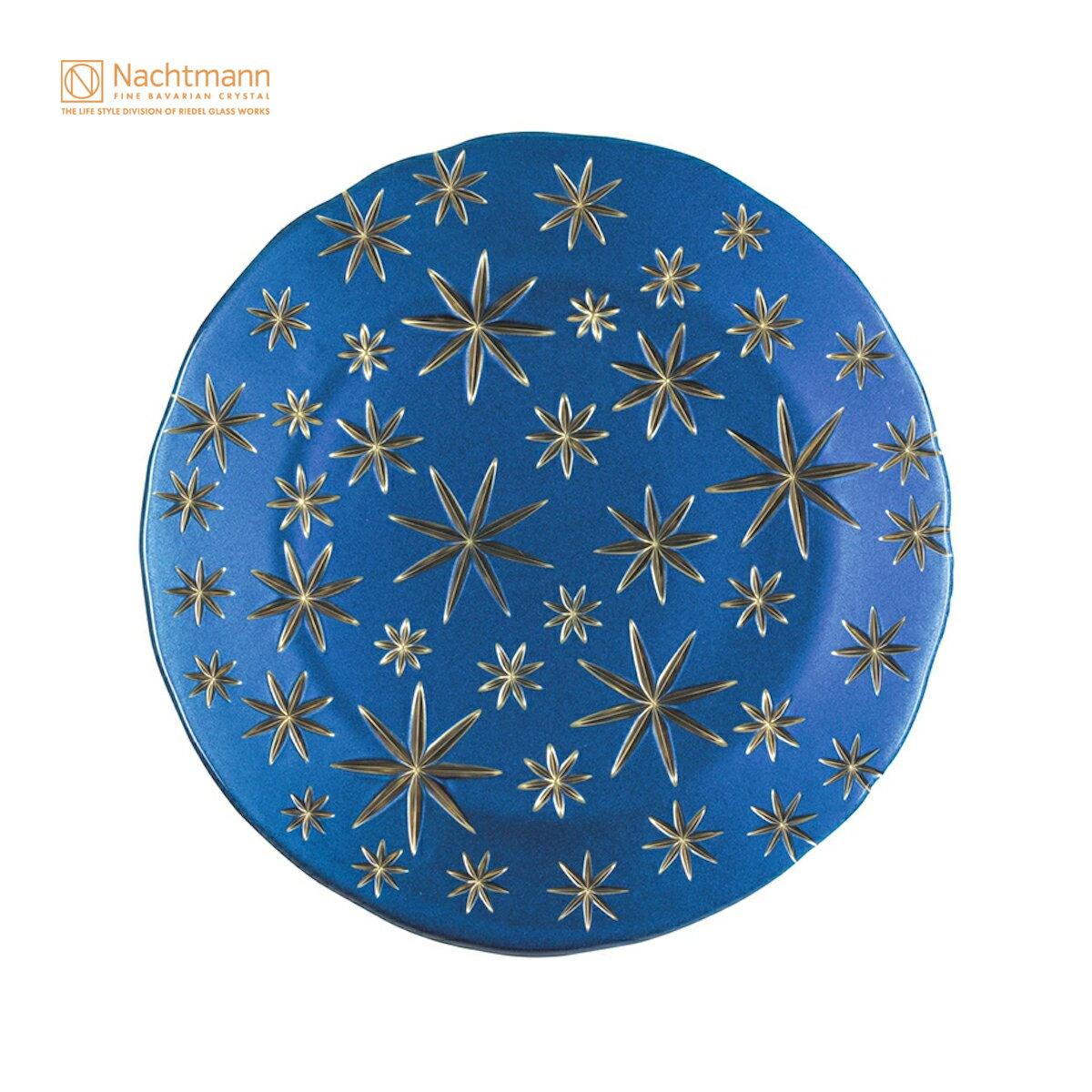 【ナハトマン公式】<ゴールデン スターズ> チャージャープレート ブルー/ゴールド(1枚入)99657【ラッピング不可】Nachtmann