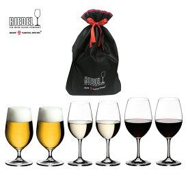 【リーデル公式】<オヴァチュア> スターターキットB ギフト(赤ワイン/白ワイン/ビアー)(6個入)6408/000511BDG【ギフトバッグ入り】RIEDEL 赤ワイングラス ビギナー向け