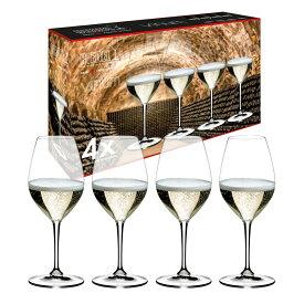 【リーデル公式】<ヴィノム> シャンパーニュ・ワイン・グラス(4個入)5416/58-1【ラッピング無料】RIEDEL シャンパングラス スパークリングワイン 泡 結婚祝い ブライダルギフト 引き出物 クリスマス Champagne