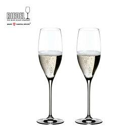 【リーデル公式】<ヴィノム> キュヴェ・プレスティージュ(ヴィンテージ・シャンパーニュ)(2個入)6416/48 【ラッピング無料】RIEDEL ワイングラス 結婚祝い ギフト Champagne 引き出物 TESB